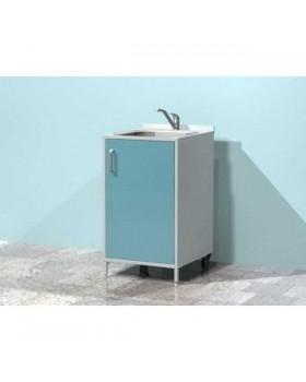 AR-X04 - металлическая тумба с распашной металлической дверью, мойкой и смесителем