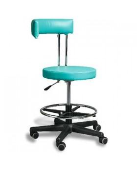 AR-Z69BF - стул врача c черной пластиковой основой и подножкой для ног