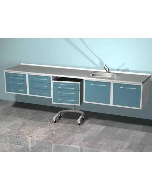 ARKODENT-T01 - комплект мебели для стоматологического кабинета, настенный