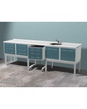 ARKODENT-TS01 - комплект мебели для стоматологического кабинета, на высоких опорах
