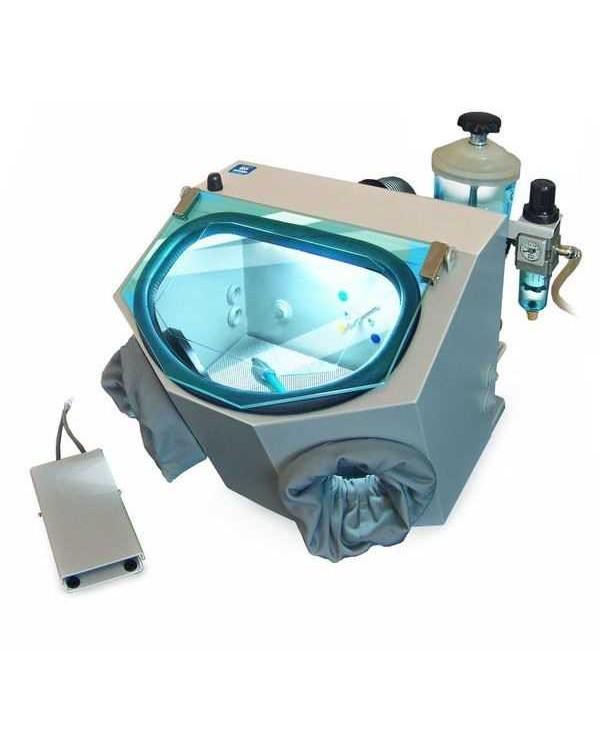 АСОЗ 5.1 С - компактный пескоструйный аппарат для зуботехнических (керамических) лабораторий с одним струйным модулем