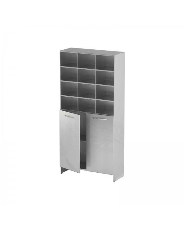 AT-S010 - шкаф-стеллаж для одноразовой одежды, нержавеющая сталь, 12 ячеек