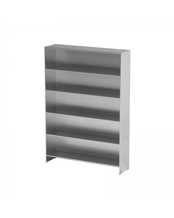 AT-S015 - шкаф-стеллаж для одноразовой одежды, нержавеющая сталь, 5 полок