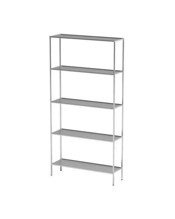 AT-S03 - шкаф-стеллаж для одноразовой одежды, нержавеющая сталь, 5 полок