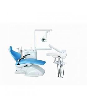 Azimut 200A MO - стоматологическая установка с нижней подачей инструментов, мягкой обивкой кресла и двумя стульями