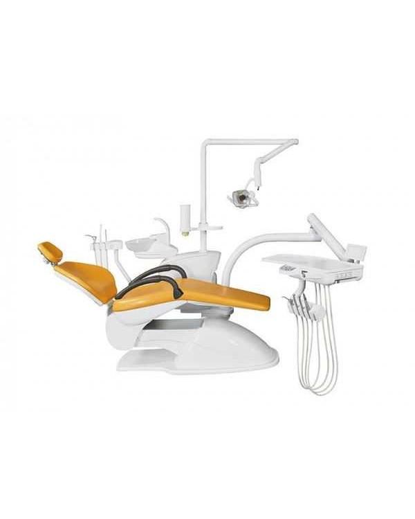 Azimut 300A MO - стоматологическая установка с нижней подачей инструментов, мягкой обивкой кресла и двумя стульями