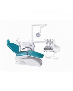 Azimut 300A MO - стоматологическая установка с верхней подачей инструментов, мягкой обивкой кресла и двумя стульями
