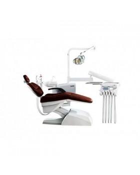 Azimut 500A MO - стоматологическая установка с нижней подачей инструментов, мягкой обивкой кресла и двумя стульями