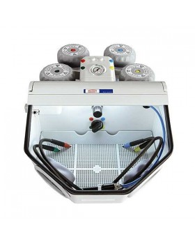 Basic quattro - аппарат для тонкоструйной обработки, базовая модель с 2 бачками, струйные сопла 0,8 мм / 1,2 мм, 25-70 мкм, 70-250 мкм