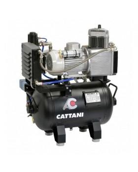 Безмаслянный компрессор без осушителя для одной стоматологической установки Cattani 24-67 без кожуха с ресивером 24 л, 67,5 л/мин