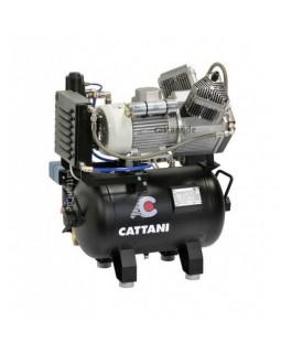 Cattani 30-160 - компрессор для 2-х стоматологических установок, c осушителем, без кожуха, с ресивером 30 л, 160 л/мин
