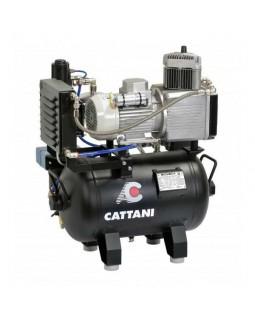 Cattani 30-67 - безмасляный компрессор для одной стоматологической установки, c осушителем, без кожуха, с ресивером 24 л, 67,5 л/ми