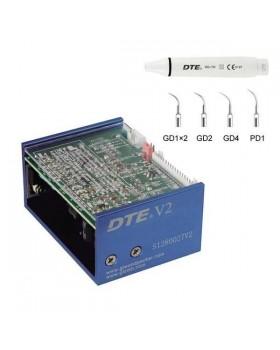 DTE-V2 - встраиваемый ультразвуковой скалер, съемный автоклавируемый наконечник, 5 насадок в комплекте