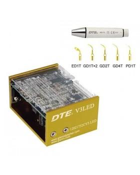 DTE-V3 LED - встраиваемый ультразвуковой скалер с фиброоптикой, съемный автоклавируемый наконечник, 6 насадок в комплекте