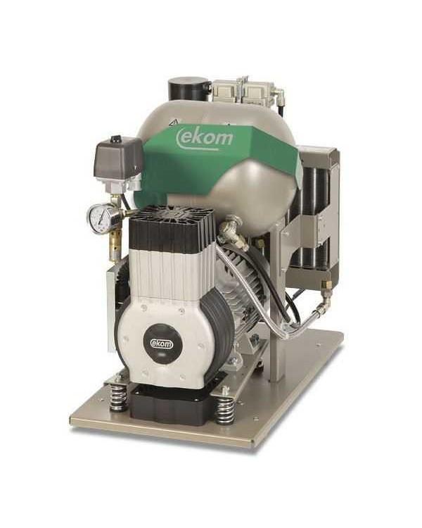 EKOM DK50-10 Z/M (S/M) - безмасляный компрессор для одной стоматологической установки с осушителем, с ресивером 10 л (60 л/мин)
