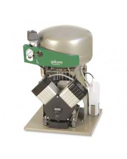 EKOM DK50 2V (2VS) - безмасляный компрессор для 2-x стоматологических установок без осушителя, с ресивером 25 л (140 л/мин)