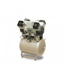 EKOM DK50 4VR/50/M (4VR/50S/M) - компрессор для 4-x стоматологических установок с осушителем, с ресивером 50 л (215 л/мин)