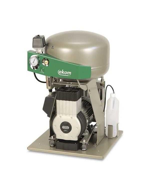EKOM DK50 PLUS (PLUS S) - безмасляный компрессор для одной стоматологической установки без осушителя, с ресивером 25 л (75 л/мин)