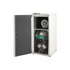 EKOM DUO 2V - компрессор с отсасывателем в двухразделенном шкафу, с ресивером 25 л (140 л/мин)