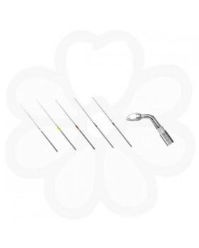 Endo Kit E11 - набор эндодонтических насадок (E11, U-файлы №15, 20, 25, 30, 35 по 6 шт. каждого размера, ключ для замены насадок)