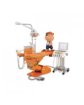 Hallim Arte - стоматологическая установка с нижней подачей инструментов, специально разработанная конфигурация кресла для детей