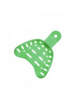 Hi-Tray Edentulous нижняя челюсть (средние) 12 шт - слепочная ложка из зеленого жесткого пластика
