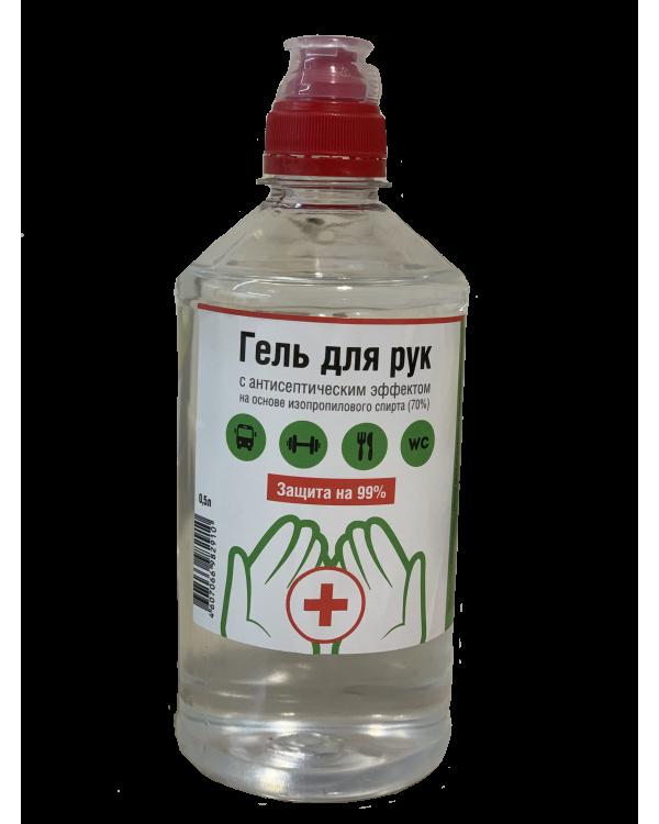 Гель для рук с антисептическим эффектом ТЕКОМХИМ 0,5л. бутылка с дозатором