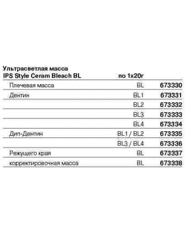 673147 IPS Style Ceram Powder Opaquer 870, 18г, цвет BL3/BL4