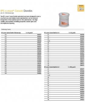 IPS e.max Ceram Дентин C4 100 гр (шт.)