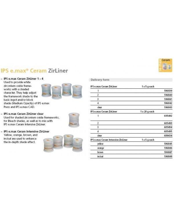 IPS e.max Ceram ZirLiner (циркониевый подслой) прозрачный 5 гр. (шт.)
