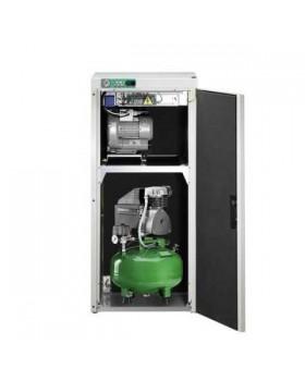 KD 124 AB - комбинированный безмасляный компрессор для одной стоматологической установки с отсасывающим агрегатом, с кожухом, с ресивером 24 л (60 л/мин)