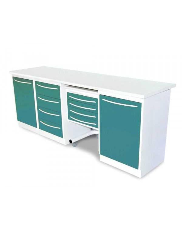 Комплект стоматологической мебели, серия Эконом, цвет фронта RAL5018