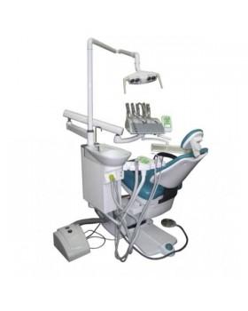 Legrin 530 - стоматологическая установка с верхней подачей инструментов, в комплекте стул врача и вакуумная помпа Mono Jet Beta