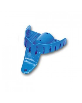 Ложка слепочная верхняя детская с перфорацией без бортиков пластиковая, одноразовая 61*49 мм, 24 шт.