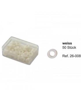 Маркировочные кольца, белые (упаковка 50 шт)