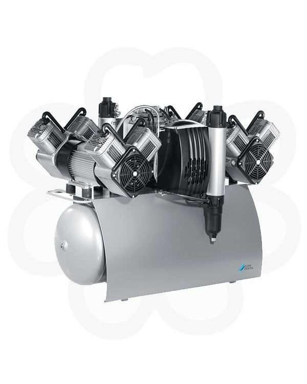 QUATTRO Tandem - двухагрегатный четырехцилиндровый безмасляный компрессор без осушителя (320 л/мин)