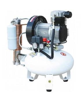 Remeza СБ4-24.OLD10СД - безмасляный компрессор для одной стоматологической установки, с осушителем адсорбционного типа, с ресивером 24 л, 75 л/мин