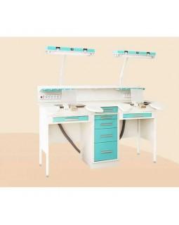 С1РМ - стол рабочий однотумбовый (зуботехнический) 1830 мм, базовый вариант на 2 рабочих места