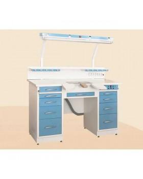 С1РМ2Т - стол рабочий двухтумбовый (цельнометаллический) 1680 мм, базовый вариант на 1 рабочее место