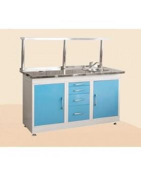 С1РМГ - стол рабочий гипсовочный (цельнометаллический) 1550х650х900 мм