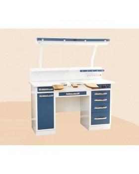 С1РМут - стол рабочий двухтумбовый (зуботехнический) 1510 мм, базовый вариант на 1 рабочее место