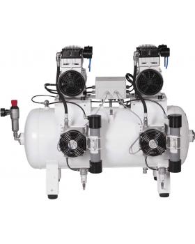 СБ4-100.OLD15СТМ - компрессор для 4-x стоматологических установок, с осушителем мембранного типа, с ресивером 100 л, 270 л/мин, тандем