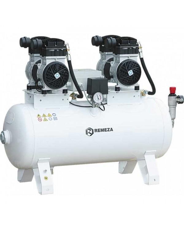 СБ4-100.OLD20СТМ - безмасляный компрессор для 4-x стоматологических установок, с осушителем мембранного типа, с ресивером 100 л, 360 л/мин, тандем