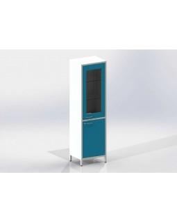 Шме-1см - шкаф закрытого типа, 2 секции, дверца из стекла в металлической рамке