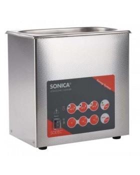SONICA 2200ETH S3 - ультразвуковая мойка с подогревом и краном для слива жидкости, 3 л