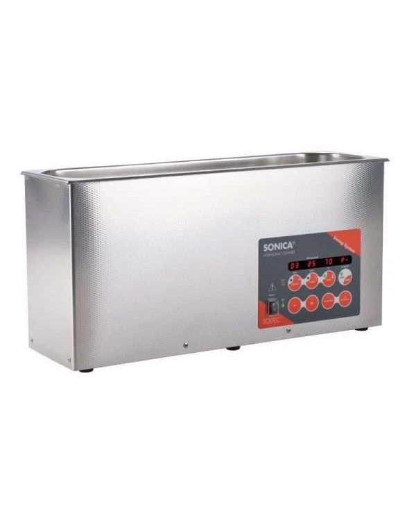 SONICA 3200LEP S3 - ультразвуковая мойка с подогревом, функцией вакуумирования и краном для слива жидкости, 6 л