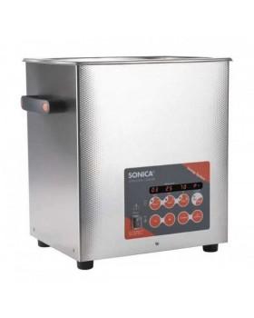 SONICA 3300EP S3 - ультразвуковая мойка с подогревом, функцией вакуумирования и краном для слива жидкости, 9,5 л
