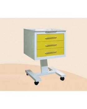 СП1-3 - стол подкатной с 3 ящиками (стекло прозрачное) 790х510х525 мм