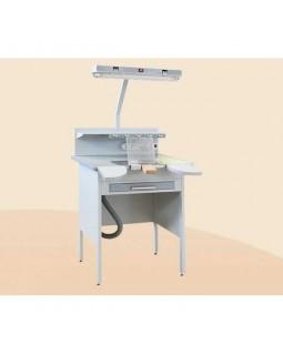СТБВ - стол вспомогательный (зуботехнический) полной комплектации с В. У. и регулятором 750 мм