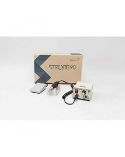 STRONG 90 - щеточный микромотор с наконечником 105L, педаль включения-выключения, 35000 об/мин